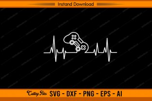Gamer Heartbeat Graphic Print Templates By sketchbundle