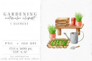 Gardening Watercolor Clipart Arrangement Graphic Illustrations By Olya Haifisch
