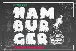Print on Demand: Hamburger Display Font By KtwoP
