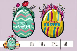 Happy Easter Day! Easter Egg Design Graphic Illustrations By onoborgol