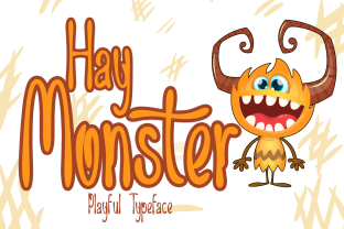 Print on Demand: Hay Monster Display Font By Sealoung