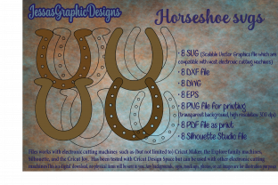 Print on Demand: Horseshoes SVG 8 Pack Graphic Crafts By JessasGraphicDesgins