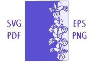 Iris Lace Edged Card SVG Cut File Graphic 3D SVG By Nic Squirrell