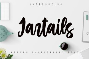 Print on Demand: Jartails Script & Handwritten Font By Skiiller Studio