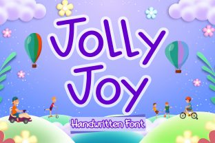 Print on Demand: Jolly Joy Script & Handwritten Font By boogaletter