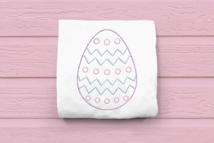 Linework Patterned Easter Egg Easter Embroidery Design By DesignedByGeeks