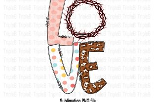 Print on Demand: Love Easter Crown Jesus Sublimation Graphic Illustrations By TripleBcraft