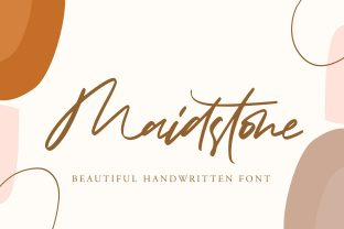 Print on Demand: Maidstone Script & Handwritten Font By HaftType