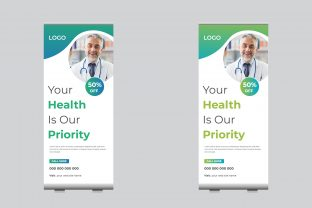 Medical Roll Up Banner Template Design Graphic Print Templates By sohagmiah_0