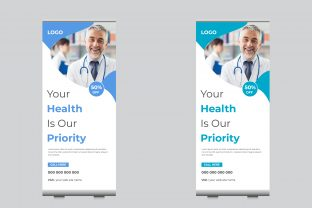 Medical Roll Up Banner Template Graphic Print Templates By sohagmiah_0