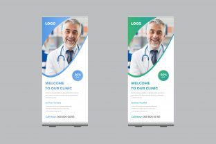 Medical Roll-Up Banner Post Template Graphic Print Templates By sohagmiah_0