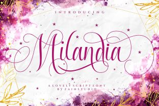 Print on Demand: Milandia Script & Handwritten Font By zainstudio