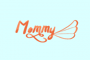 Print on Demand: Mommy Mother Embroidery Design By setiyadissi