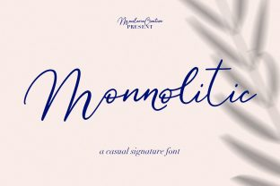 Print on Demand: Monnolitic Script & Handwritten Font By Maulana Creative