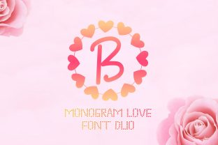 Print on Demand: Monogram Love Decorative Font By handles creative