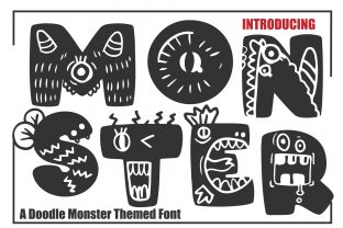 Print on Demand: Monster Decorative Font By KtwoP