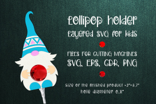 Print on Demand: Nordic Gnome -Lollipop Holder Template Gráfico SVG en 3D Por Olga Belova