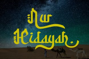 Print on Demand: Nur Hidayah Display Font By anomali.bisu