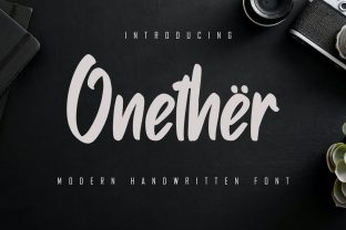Print on Demand: Onether Script & Handwritten Font By Skiiller Studio