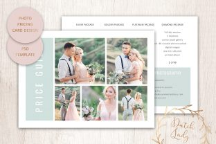 Print on Demand: PSD Photo Price Card Template #23 Graphic Print Templates By daphnepopuliers