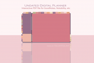 Pink Undated Digital Planner Graphic Layer Styles By feelartfeelant