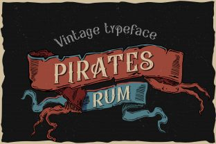 Print on Demand: Pirates Rum Display Font By Fractal font factory