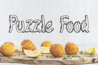 Print on Demand: Puzzle Food Display Font By darully.creator