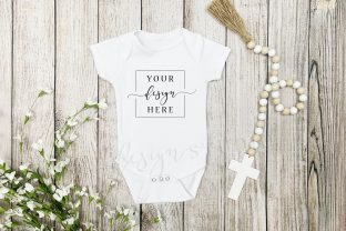 Religious Easter Onesie Mockup Spring Graphic Product Mockups By SlyDesignStudio