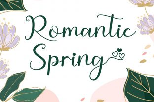 Print on Demand: Romantic Spring Script & Handwritten Font By AEN Creative Studio