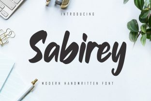 Print on Demand: Sabirey Script & Handwritten Font By Skiiller Studio