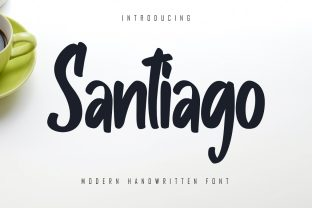 Print on Demand: Santiago Script & Handwritten Font By Skiiller Studio