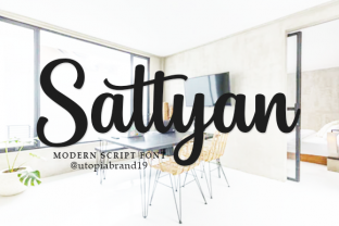 Print on Demand: Sattyan Script & Handwritten Font By utopiabrand19
