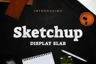 Print on Demand: Sketchup Display Font By almarkhatype
