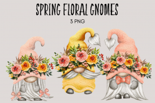 Print on Demand: Spring Floral Easter Mothers Day Gnomes Grafik Illustrationen von Celebrately Graphics