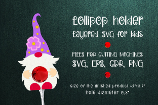 Print on Demand: Spring Gnome -Lollipop Holder Template Graphic 3D SVG By Olga Belova