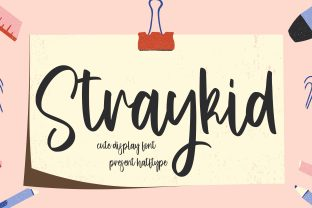 Print on Demand: Straykid Script & Handwritten Font By HaftType