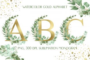 Sublimation Alphabet | Gold Letters Graphic Crafts By outlander1746