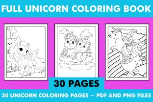 Print on Demand: Unicorn Coloring Book Pages KDP Interior Graphic KDP Interiors By KDP INTERIOR DESIGN