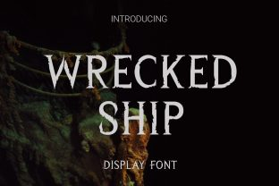 Print on Demand: Wrecked Ship Display Font By RoninDesign