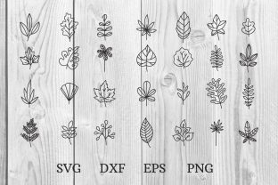 Print on Demand: Hand Drawn Doodle Leaves Svg Cut Files Graphic Print Templates By dadan_pm