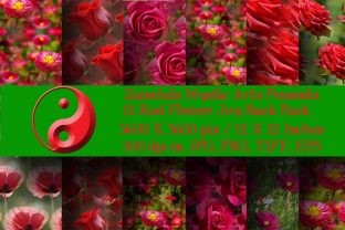 12 Red Flower Joy Backs Graphic Backgrounds By Zaimfuls Mystic Arts