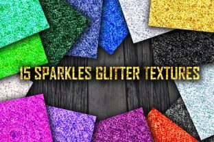 Print on Demand: 15 Sparkle Glitter Textures Graphic Illustrations By barsrsind