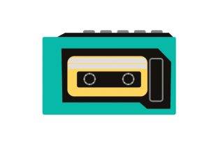 Retro Cassette Tape Player Designs & Drawings Craft Cut File By Creative Fabrica Crafts