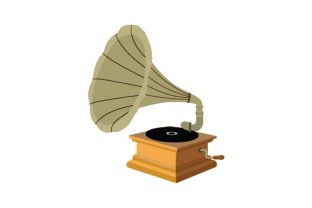 Vintage Gramophone Designs & Drawings Craft Cut File By Creative Fabrica Crafts