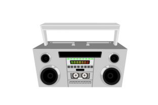 Retro Boombox Designs & Drawings Craft Cut File By Creative Fabrica Crafts