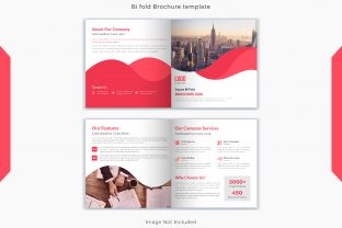 4 Pages Square Bi Fold Brochure Template Graphic Print Templates By grgroup03