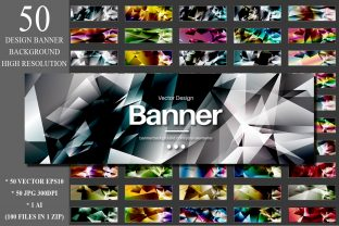 50 Polygonal Banner Design Backgrounds Graphic Backgrounds By Artnoy