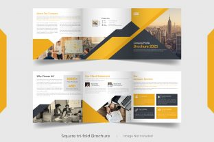 6 Pages Square Brochure Template Design Graphic Print Templates By grgroup03