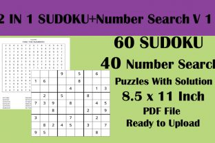 60 Sudoku 40 Number Search Puzzle KDP V1 Graphic KDP Interiors By Seven Elephant