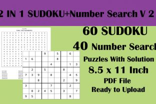 60 Sudoku 40 Number Search Puzzle KDP V2 Graphic KDP Interiors By Seven Elephant